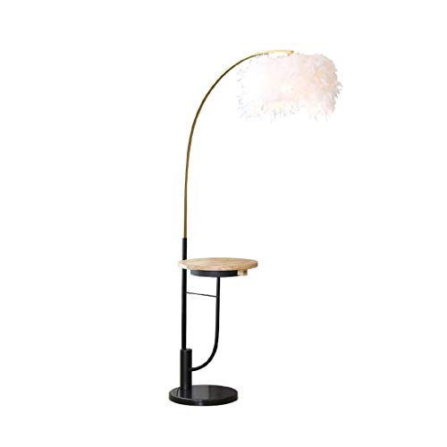 LED Floor Lamp met USB en draadloos opladen-Woonkamer Slaapkamer Leeslamp tabel-Study Room Home Lighting Decoration Lamp DZE (Color : White, Size : 86cm*168cm)