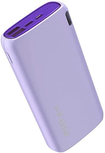 Banco De Energía Portátil, Cargador De Batería De Teléfono De Alta 20000mah Compacto Paquete De Batería Externa De Alta Velocidad De Carga Para El Camping De Viaje Al Aire Libre(Color:Púrpura)