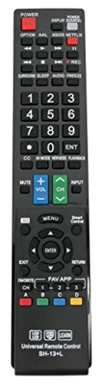 New SH-13+L Universal Remote Control for Almost All Sharp Brand LCD LED HD TV, Smart TV GB004WJSA GB005WJSA GA890WJSA GB118WJSA GJ221-C GJ221