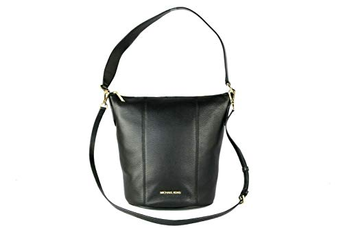 """Imported Pebbled Leather Features: Exterior Slip Pocket for Phone, Inner Pockets Adjustable/Detachable Crossbody Strap Measures: 12.5"""" L x 12.5"""" H x 6.5"""" D"""