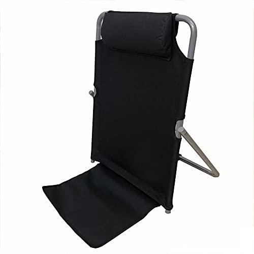 HTQ Respaldo sillón reclinable Plegable portátil, Almohada cómoda Soporte Lumbar de ángulo Ajustable Adecuado para el Cuidado del Paciente en Reposo en casa (Color : Blue)