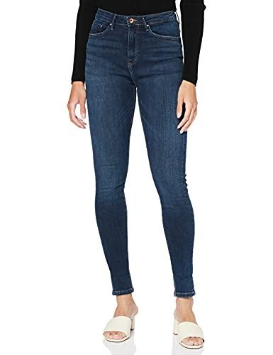 ONLY Damen Onlpaola Hw Dnm Azgz878 Noos Skinny Jeans, Blau (Dark Blue Denim), S 30L EU