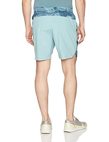 New Balance Men's 7 Inch Woven Running Short, Storm Blue Print, S