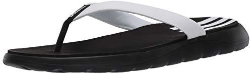 adidas Women's Comfort Flip Flop Slide Sandal, Black, 9 M US