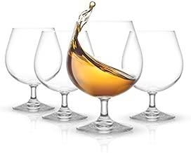 JoyJolt Brandy Glasses – Cask Collection Set of 4 Cognac Glasses – 13.5Oz Crystal Snifter Set – Premium Quality Craftsmanship – Ultra-Elegant Design – Perfect Size for Brandy, Cognac – Made in Europe