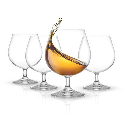 JoyJolt Brandy Glasses – Cask Collection Set of 4 Cognac Glasses – 13.5Oz Crystal Snifter Set – Premium Quality Craftsmanship – Ultra-Elegant Design – Perfect Size for Brandy, Cognac