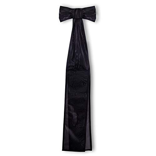 FLAGLY Trauerflor schwarz für Fahnenmasten - Trauerschleifen schwarz in verschiedenen Größen zur Trauerbeflaggung an Fahnen und Flaggen im Hochformat sowie an Bannerfahnen (35 x 100 cm)