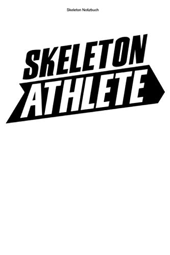 Skeleton Notizbuch: 100 Seiten | Kariert | Rodeln Champion Rennfahrer Athlet Gewinner Trainer Rodel Schlitten Geschenk Wintersport Hobby Team Rodelschlitten Rennen