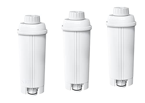 NRP Replacement DLSC002 Water Filter for DeLonghi Espresso Coffeemaker Bean to Cup | 3-pack