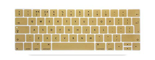 Keyboard Cover Protector Skin Silicone Euro Eu English Layout For 2016 New Macbook Pro 13 15 Retina With Touch Bar 2016 2017-gold-