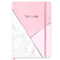 Pink and marble effect notepad