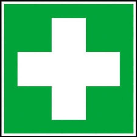 INDIGOS UG - Erste Hilfe Rettungsschild, selbstklebende Folie, Größe 15 x15 cm