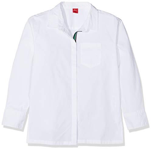 s.Oliver RED Label Mädchen Hemdbluse mit Streifen-Detail White L.REG
