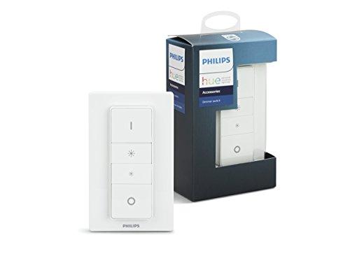 Philips Hue(フィリップスヒュー) スマートスイッチ スマートライト ワイヤレス LED 照明 ライト 調光 調色 タイマー スマホで遠隔操作 Alexa Google Home Siri アレクサ対応 【日本正規品】 Hue ディマースイッチ