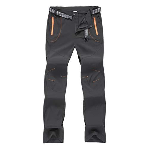 Haobing Unisexo Pantalones de Acampada y Marcha Pantalón de...