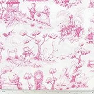 Pink Nursery Rhyme Toile Cotton Calico FabricNew by: CC