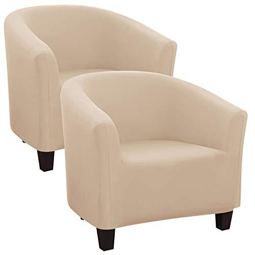 IVYSHION Sesselbezug Sesselhussen Sesselüberwurf Stretch Elastisch Sofahusse Jacquard Husse für Cafe Stuhl Sessel