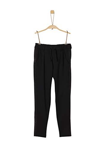 s.Oliver Mädchen Bundfalten-Hose im Jogpants-Style black 140.REG