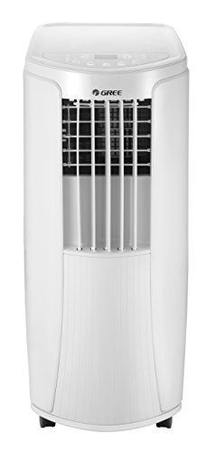 Gree Mobile Klimaanlage Klimagerät Ventilator (2,1 kW, 7165 BTU/h, 16-30 °C Temperatur, Sleep Mode Funktion) Energieklasse A, Fernbedienung,Farbe: weiss