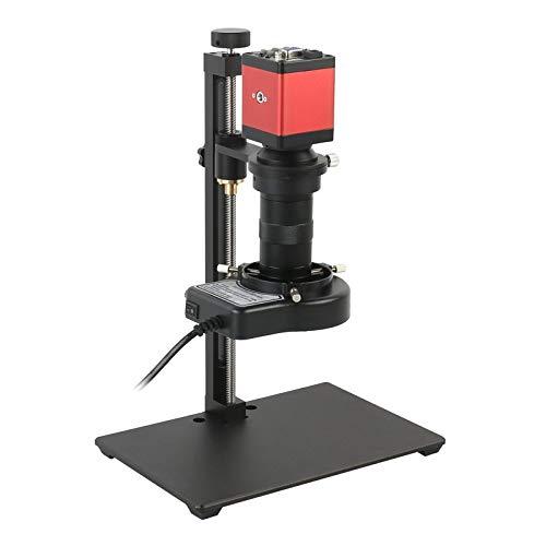 Brightz 14MP 1080P HDMI VGA VGA Microscopio Digital Digital Cámara de Microscopio + 100x C-Mount Lens para Tablet Phone Tablet PC Reparación de Soldadura (Color : A, Magnification : Red)