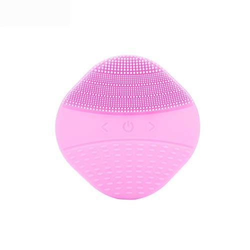 Nettoyage du visage électrique mini brosse de massage sonic silicone visage nettoyant saleté enlever le visage machine à laver le dispositif de soins de la peau, Rose