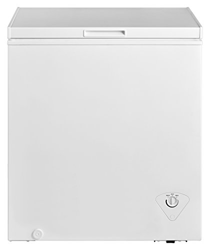 Midea WHS-185C1 Single Door Chest Freezer, 5.0 Cubic Feet, White