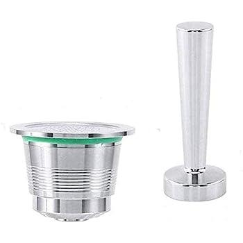Fdit1 Reutilizable Nespresso C/ápsulas Caf/é C/ápsula Tamper Caf/é M/áquina de caf/é Recargable Juego de Herramientas de Filtro
