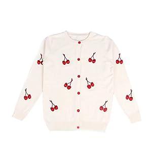 Burning Go 親子 ペアカーディガン セーター ニット ペアルック 親子お揃い キッズ 赤ちゃん レディース 刺繍 紫外線 空調 防寒対策