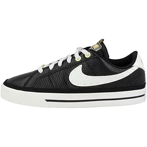 Nike Zapatillas para mujer Low Court Legacy Serena Design Crew, Black Summit White Metallic Gold Dj1454 001, 38 EU