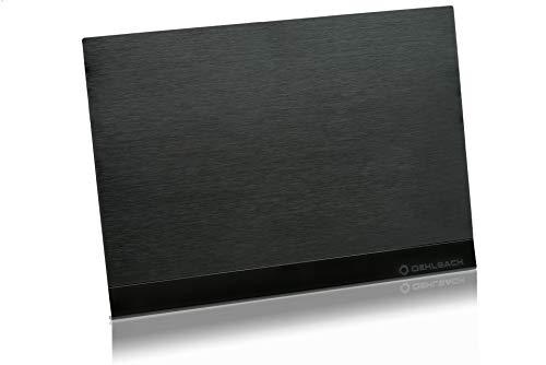 Oehlbach Flat Style One DVB-T2 HD Antenne (DAB+ vorbereitet) - Digitale Zimmerantenne - Aktiv DVB-T-Verstärker Innenantenne - Schwarz