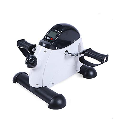 Mini Bicicleta Estática Con Pedal, Pedales Estaticos Mini Bicicleta Estáticas máquinas de Piernas Entrenamiento de Brazos Y Piernas Pantalla Lcd y Resistencia Ajustable
