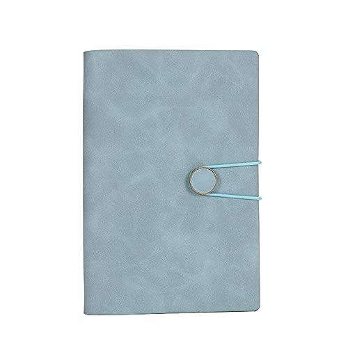 FACHAI Cuaderno B6 con banda elástica, bloc de notas de cuero sintético, 160 páginas, 18,5 x 12,8 cm