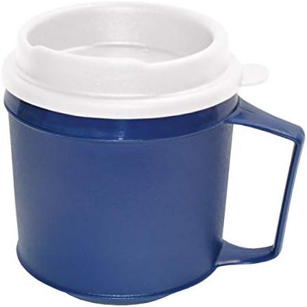 Rehabilitation Advantage Insulated Mug with Tumbler Lid 8oz Blue Non Weighted product image
