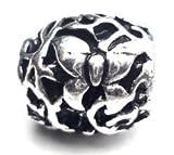 Butterfly Web, versilbert mit 4 mm Loch, für PANDORA-/Troll-Armbänder