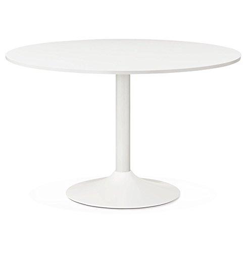 Alterego - Table de Bureau/à Diner Ronde 'Orlando' Blanche - Ø 120 cm