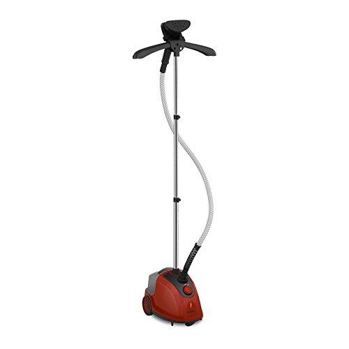 Bredeco Dampfglätter Steamer Stand-Dampfglätter BCGS-1E (1.500 W, 1.750 ml, 60 Min. Dauerbetrieb, 100,8 °C, Thermostat, Teleskopstange: 44-120 cm) Orange