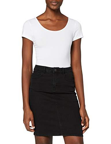 VERO MODA Damen VMMAXI My SS Soft U-Neck NOOS T-Shirt, Weiß Bright White, 36 (Herstellergröße: S)