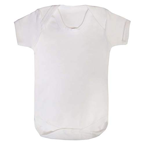 TWISTED ENVY Sublimation Baby Bodysuit Blanks 12 Pack Infant Short Sleeve Body Suit White 3-6 Months