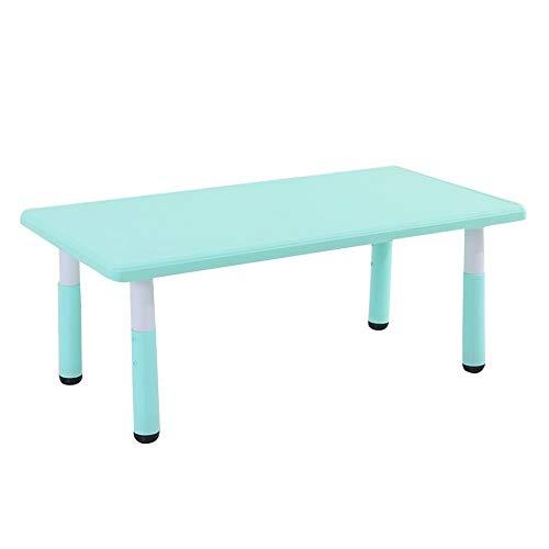 Preisvergleich Produktbild CHAXIA Kindertisch Stuhl Baby Kindergarten Spiel Spielzeug Tisch Höhenverstellbar rutschfest Einfach Zu Säubern,  4 Farben (Color : Blue,  Size : A)