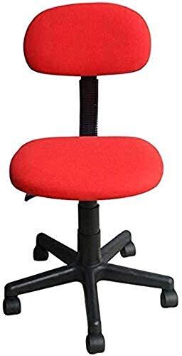 GAOLILI Sedia da Ufficio Sedia da Ufficio Poltrona Imbottita Imbottita Sedia da Lavoro ergonomica/Sedia da Ufficio (Color : Red, Size : 41 * 56cm)