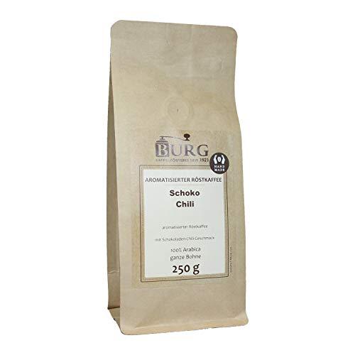BURG Schoko-Chili Kaffee aromatisiert Gewicht 250 g, Mahlgrad ungemahlen