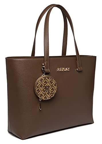 REPLAY FW3210.000.A0283B, Shopper para Mujer, 110, Einheitsgröße
