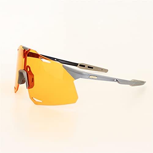 Gafas de ciclismo, gafas deportivas polarizadas, gafas a prueba de viento a prueba de viento, con 3 lentes coloridas intercambiables para canalizar la pesca de la pesca de vacaciones de esquí de trekk