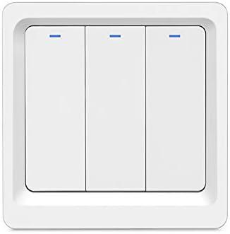 Wifi Smart Wireless Light Switch Einfache Wandinstallation Kein Hub Erforderlich Kompatibel Mit Alexa Echo Und Google Assistant 3gang Amazon De Baumarkt