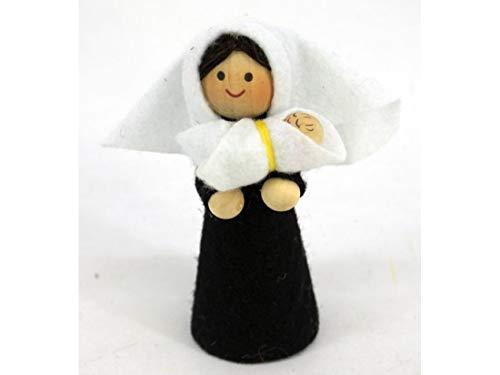 Virgen Maria con El NiÑo Jesus 10cm