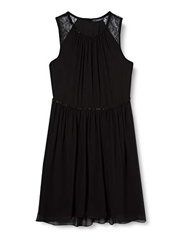 ESPRIT Collection Damen 127EO1E016 Partykleid, Schwarz (Black 001), 40