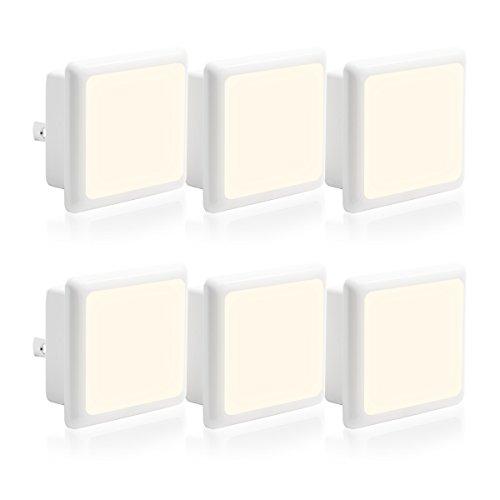 LOHAS Plug in Night Light Bulbs LED with Dusk to Dawn Smart Sensor, 0.3W Daylight LED Night Lights...