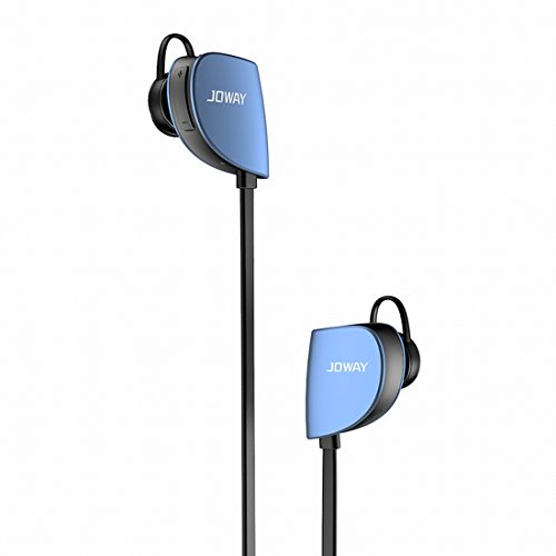 Granvela Bluetooth 4.1 Headphones, H07 Wireless Sweatproof Lightweight in-Ear Sport Earbuds with Built-in Remote and Mic, aptX, CVC 6.0 Noise Cancelling for Running, Outdoor - Blue