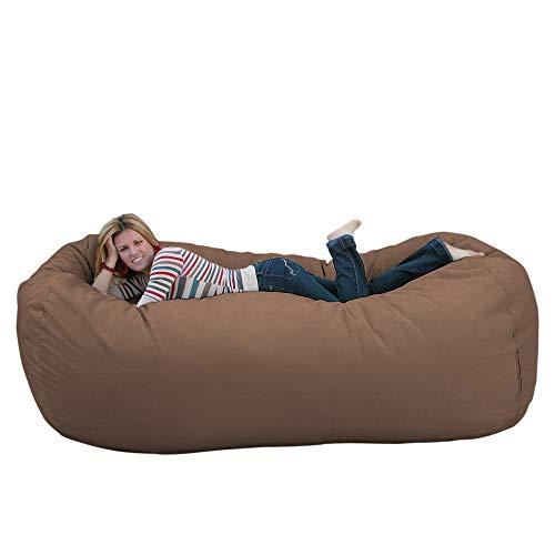 Cozy Sack 8-Feet Bean Bag Chair, X-Large, Black