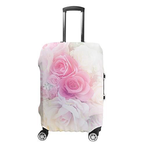 HAOXIANG - Funda Protectora para Maletas de Viaje, Color Rosa pálido